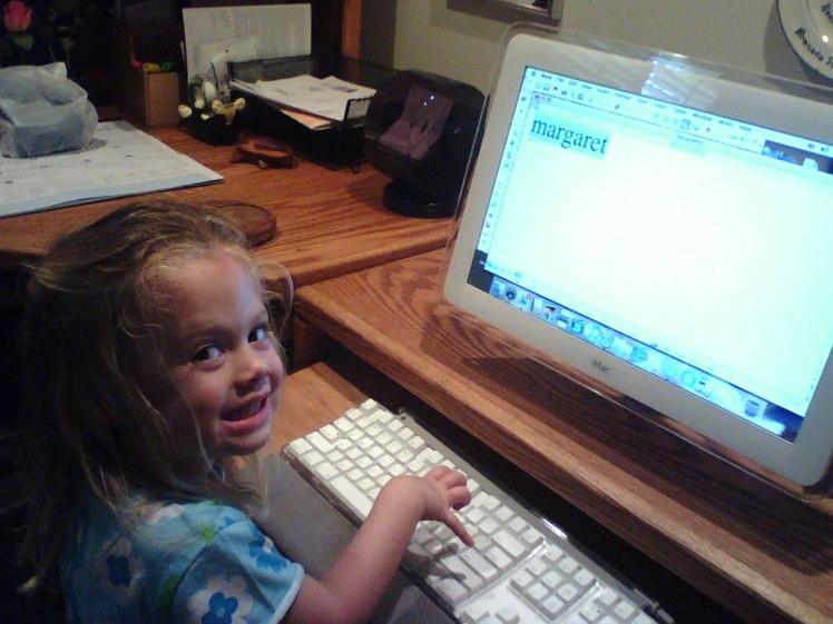 Typing name